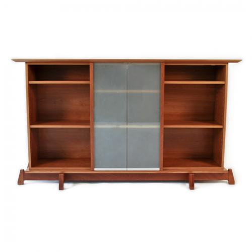 - Marcus Studio Bookcase W/ Sliding Glass Doors Furniture Store